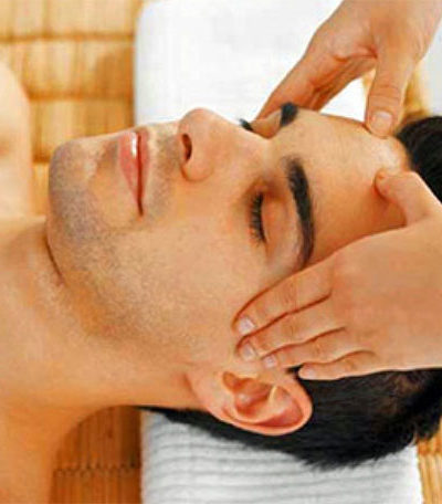 Feet and head massage